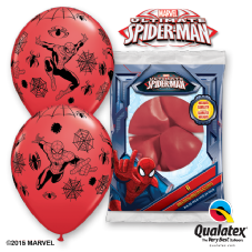 Disney Ultimate Spider-Man Red Balloons 6 Pack